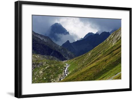 Mountain Scenery in the Unterengadin, Engadine, Graubunden, Switzerland, Europe-Christian Kober-Framed Art Print