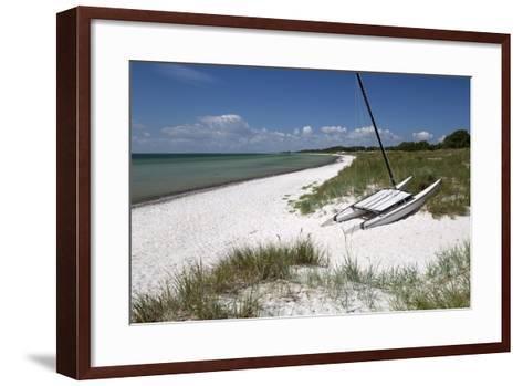 White Sand Beach and Sand Dunes, Skanor Falsterbo, Falsterbo Peninsula, Skane, South Sweden, Sweden-Stuart Black-Framed Art Print