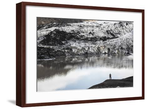 Exploring Solheimajokull Glacier, South Iceland (Sudurland), Iceland, Polar Regions-Matthew Williams-Ellis-Framed Art Print