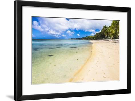 Tropical Beach in Muri Area of Rarotonga, Cook Islands, South Pacific, Pacific-Matthew Williams-Ellis-Framed Art Print
