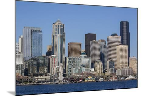 A View from Puget Sound of the Downtown Area of the Seaport City of Seattle, Washington State-Michael Nolan-Mounted Photographic Print