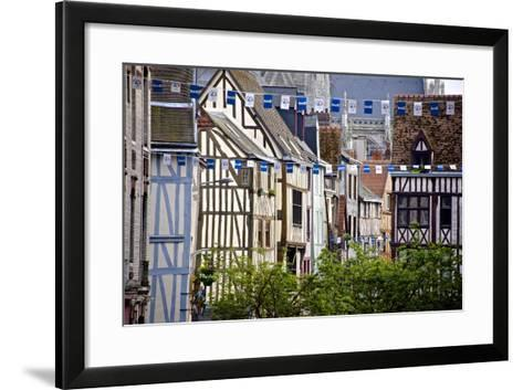 Half Timbered Norman Facades, Rouen, Normandy, France, Europe-Guy Thouvenin-Framed Art Print