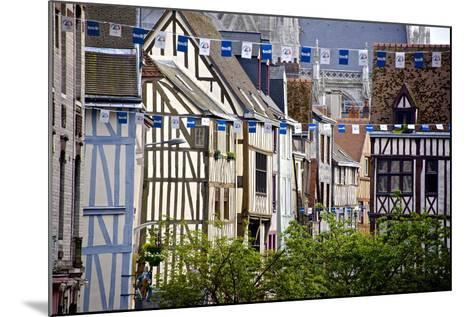 Half Timbered Norman Facades, Rouen, Normandy, France, Europe-Guy Thouvenin-Mounted Photographic Print