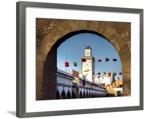 Medina Street Scene, Essaouira, Morocco, North Africa, Africa-Charles Bowman-Framed Art Print