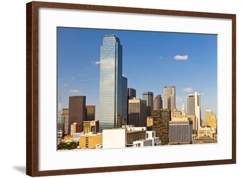 Skyline, Dallas, Texas, United States of America, North America-Kav Dadfar-Framed Art Print
