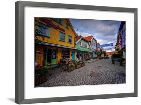 Colourful Street, Ovre Holmegate, Stavanger, Norway, Scandinavia, Europe-Jim Nix-Framed Art Print