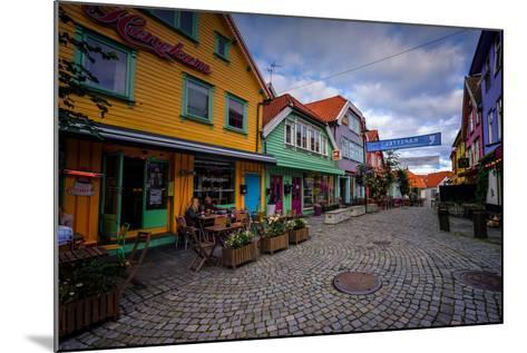 Colourful Street, Ovre Holmegate, Stavanger, Norway, Scandinavia, Europe-Jim Nix-Mounted Photographic Print