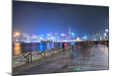 Avenue of Stars at Night, Hong Kong, China, Asia-Andy Brandl-Mounted Photographic Print