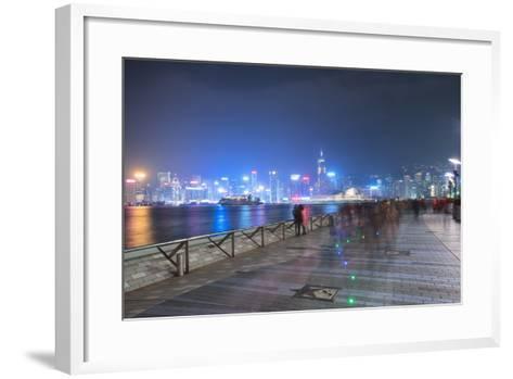 Avenue of Stars at Night, Hong Kong, China, Asia-Andy Brandl-Framed Art Print