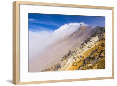 The 5126M Summit of Illiniza Norte Volcano, Pichincha Province, Ecuador, South America-Matthew Williams-Ellis-Framed Art Print