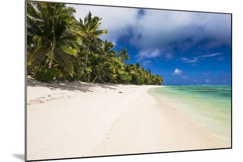 White Sandy Beach and Palm Trees on Tropical Rarotonga Island, Cook Islands, South Pacific, Pacific-Matthew Williams-Ellis-Mounted Photographic Print
