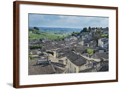 View over the UNESCO World Heritage Site, St. Emilion, Gironde, Aquitaine, France, Europe-Michael Runkel-Framed Art Print