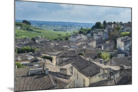 View over the UNESCO World Heritage Site, St. Emilion, Gironde, Aquitaine, France, Europe-Michael Runkel-Mounted Photographic Print