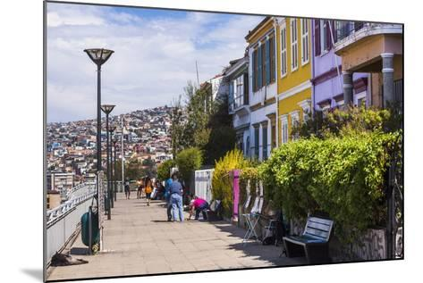Colourful Houses in Valparaiso, Valparaiso Province, Chile, South America-Matthew Williams-Ellis-Mounted Photographic Print