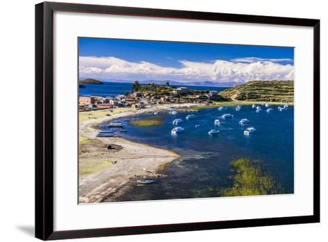 Harbour on Lake Titicaca at Challapampa Village on Isla Del Sol (Island of the Sun), Bolivia-Matthew Williams-Ellis-Framed Art Print