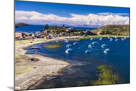 Harbour on Lake Titicaca at Challapampa Village on Isla Del Sol (Island of the Sun), Bolivia-Matthew Williams-Ellis-Mounted Photographic Print