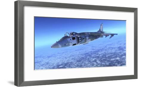 Color Illustration of an Av-8B Harrier Ii Fighter Jet-Stocktrek Images-Framed Art Print