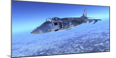 Color Illustration of an Av-8B Harrier Ii Fighter Jet-Stocktrek Images-Mounted Photographic Print