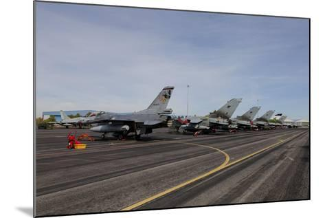 Turkish Air Force F-16 Jets on the Flight Line at Albaacete Air Base, Spain-Stocktrek Images-Mounted Photographic Print