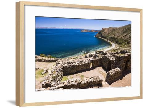 Palacio Del Inca at Chincana Ruins, Lake Titicaca, Bolivia-Matthew Williams-Ellis-Framed Art Print