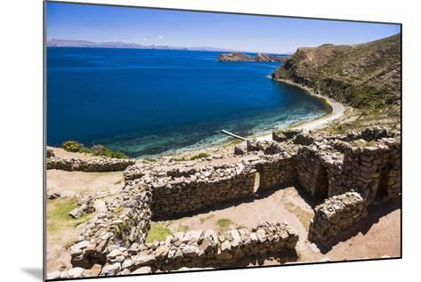 Palacio Del Inca at Chincana Ruins, Lake Titicaca, Bolivia-Matthew Williams-Ellis-Mounted Photographic Print