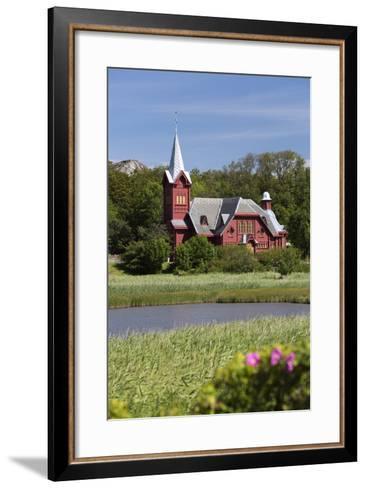 Halleviksstrands Kyrka Church, Halleviksstrand, Orust, Bohuslan Coast, Southwest Sweden, Sweden-Stuart Black-Framed Art Print