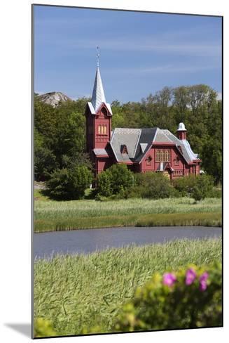 Halleviksstrands Kyrka Church, Halleviksstrand, Orust, Bohuslan Coast, Southwest Sweden, Sweden-Stuart Black-Mounted Photographic Print