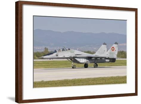 A Bulgarian Air Force Mig-29, Bulgaria-Stocktrek Images-Framed Art Print