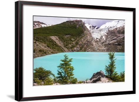 Huemul Lake (Lago Huemul) and Huemul Glacier (Glaciar Huemul), El Chalten, Patagonia, Argentina-Matthew Williams-Ellis-Framed Art Print