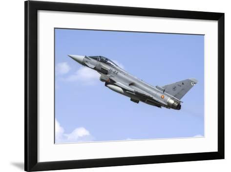 A Spanish Air Force Ef-2000 Typhoon Taking Off-Stocktrek Images-Framed Art Print