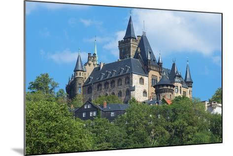 Wernigerode Castle, Harz, Saxony-Anhalt, Germany, Europe-G & M Therin-Weise-Mounted Photographic Print