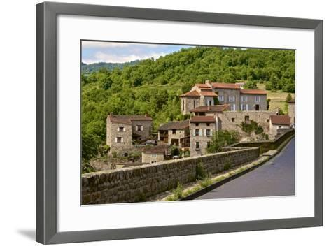 Perched Medieval Village, Allier River, Auvergne, Haute Loire, France, Europe-Guy Thouvenin-Framed Art Print