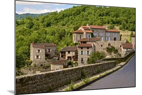 Perched Medieval Village, Allier River, Auvergne, Haute Loire, France, Europe-Guy Thouvenin-Mounted Photographic Print