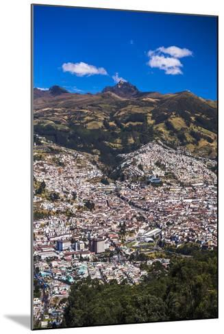 Quito, with Pichincha Volcano in the Background, Ecuador, South America-Matthew Williams-Ellis-Mounted Photographic Print