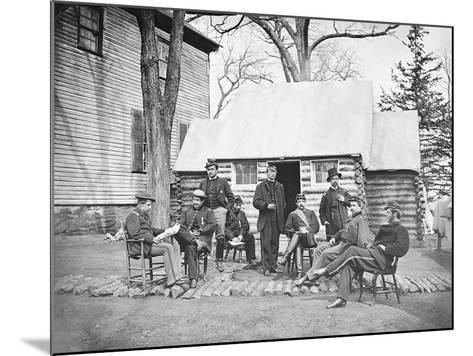 Officers at Headquarters of 6th Army Corps During the American Civil War-Stocktrek Images-Mounted Photographic Print