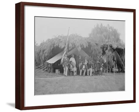 Officers of 4th New Jersey Infantry, American Civil War-Stocktrek Images-Framed Art Print