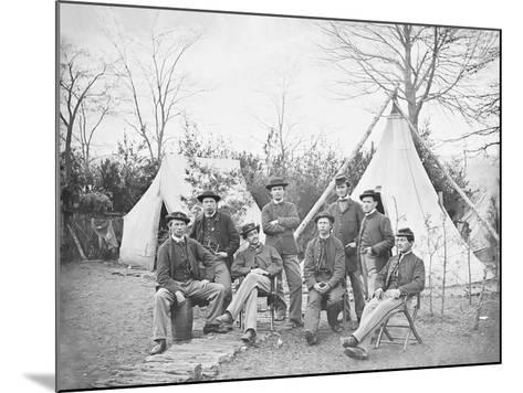 American Civil War Soldiers at their Encampment-Stocktrek Images-Mounted Photographic Print