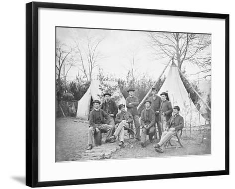 American Civil War Soldiers at their Encampment-Stocktrek Images-Framed Art Print
