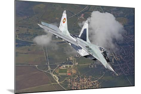 A Bulgarian Air Force Mig-29 in Flight over Bulgaria-Stocktrek Images-Mounted Photographic Print