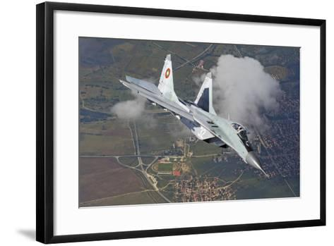 A Bulgarian Air Force Mig-29 in Flight over Bulgaria-Stocktrek Images-Framed Art Print