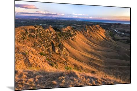 Te Mata Peak at Sunrise, Hastings Near Napier, Hawkes Bay Region, North Island, New Zealand-Matthew Williams-Ellis-Mounted Photographic Print