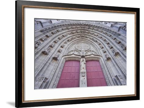 The Entrance to Cathedral of Saint Paul and Saint Peter, Loire-Atlantique, France-Julian Elliott-Framed Art Print