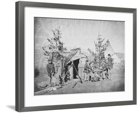 Camp Scene During the American Civil War-Stocktrek Images-Framed Art Print