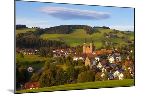 Overview of Saint Peter (Sankt Peter) at Sunset, Black Forest, Baden-Wurttemberg, Germany, Europe-Miles Ertman-Mounted Photographic Print