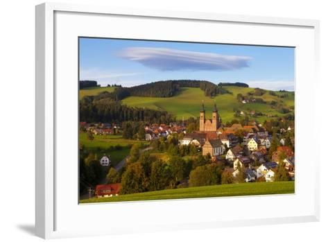 Overview of Saint Peter (Sankt Peter) at Sunset, Black Forest, Baden-Wurttemberg, Germany, Europe-Miles Ertman-Framed Art Print