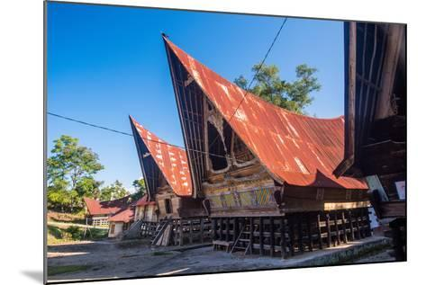 Traditional Batak House in Lake Toba, Sumatra, Indonesia, Southeast Asia-John Alexander-Mounted Photographic Print