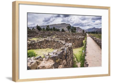 Raqchi Inca Ruins, an Archaeological Site in the Cusco Region, Peru, South America-Matthew Williams-Ellis-Framed Art Print