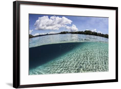 Sunlight Dances across a Sandy Slope Off the Island of Guadalcanal-Stocktrek Images-Framed Art Print