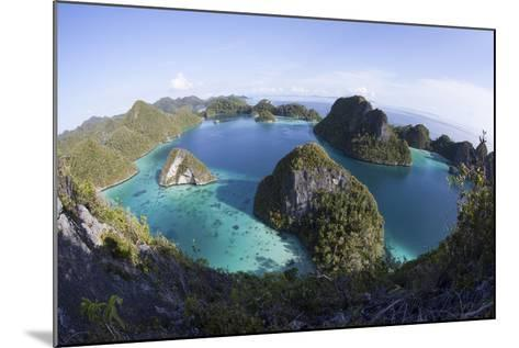 Limestone Islands Surround a Lagoon in a Remote Part of Raja Ampat-Stocktrek Images-Mounted Photographic Print