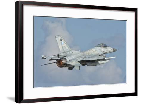 A Hellenic Air Force F-16 Taking Off-Stocktrek Images-Framed Art Print